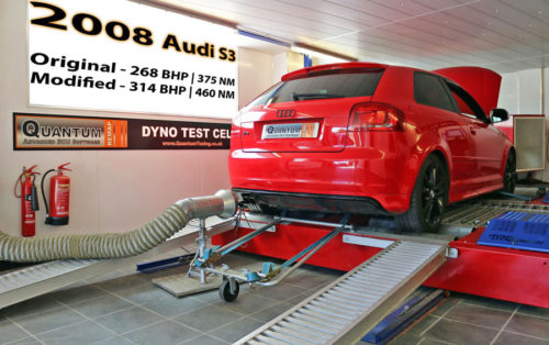 Chip Tuning the Audi S3 on a dynamometer