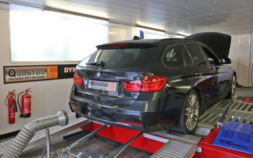 Chip Tuning the BMW 3 on a dynamometer