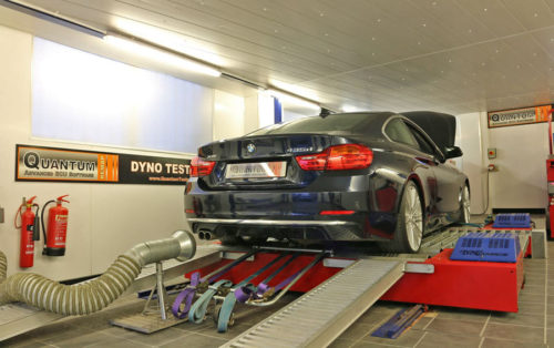 Chip Tuning the BMW 4 435D on a dynamometer