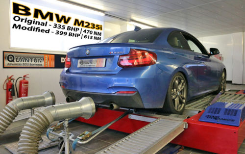 Chip Tuning the BMW M2 235 on a dynamometer
