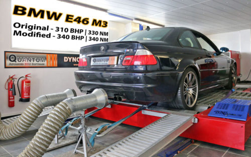 Chip Tuning the BMW M3 on a dynamometer