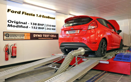 Chiptuning the Ford Fiesta 10 eco-boost on a dynamometer