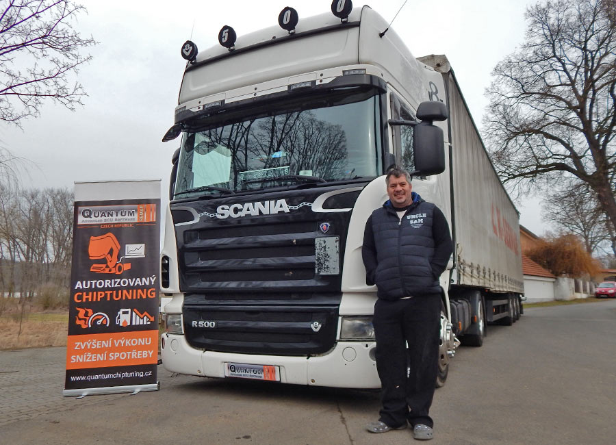 Chip tuning the SCANIA R500 2008