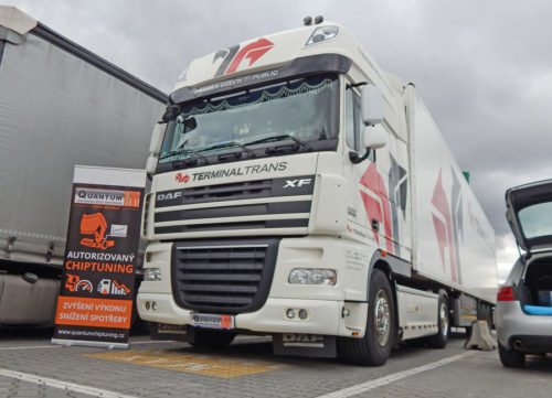 Chip tuning the DAF XF105 460